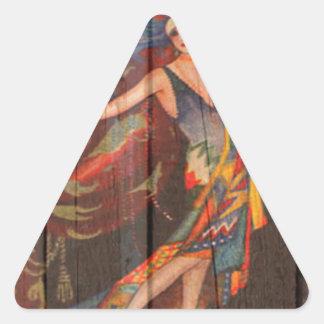 ショーガール 三角形シール