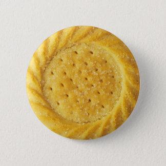 ショートブレッドのビスケットのPinbackボタン 5.7cm 丸型バッジ