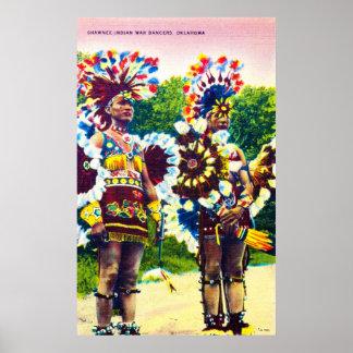 ショーニー人オクラホマ、インド戦争のダンサー ポスター
