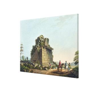 シラキュースのプレートの近くの巨大なコラムの基盤 キャンバスプリント