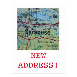 シラキュースの新しい住所発表 ポストカード