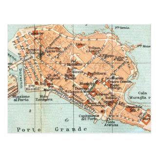 シラキュースイタリア(1905年)のヴィンテージの地図 葉書き