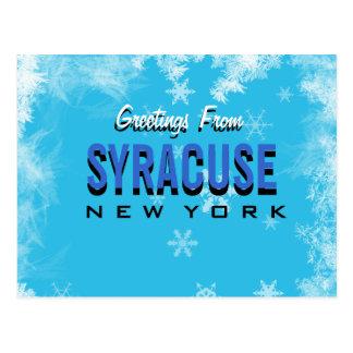 シラキュースニューヨークの郵便はがきからの挨拶 ポストカード