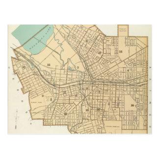 シラキュースニューヨーク(1895年)のヴィンテージの地図 はがき