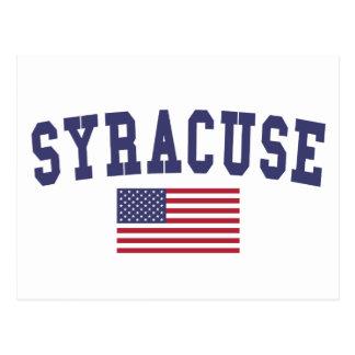 シラキュース米国の旗 はがき