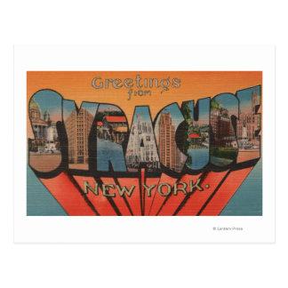 シラキュース、ニューヨーク-大きい手紙場面 ポストカード