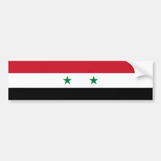 シリアかシリアの旗 バンパーステッカー