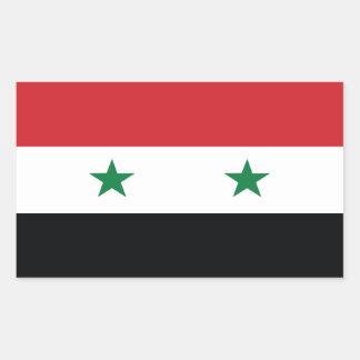 シリアの公式の旗 長方形シール
