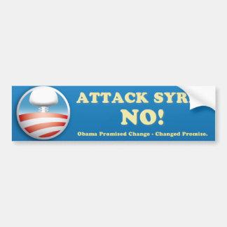 シリアの反戦のバンパーステッカー バンパーステッカー