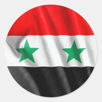 シリアの旗のクラシックな円形のステッカー ラウンドシール
