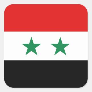 シリアの旗のステッカー スクエアシール