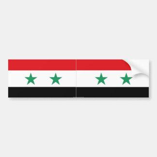 シリアの旗のバンパーステッカー バンパーステッカー