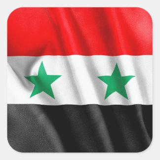 シリアの旗の正方形のステッカー スクエアシール