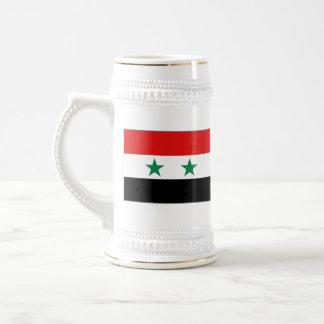 シリアの旗の~の地図のマグ ビールジョッキ