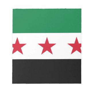 シリアの旗-シリアの独立旗 ノートパッド
