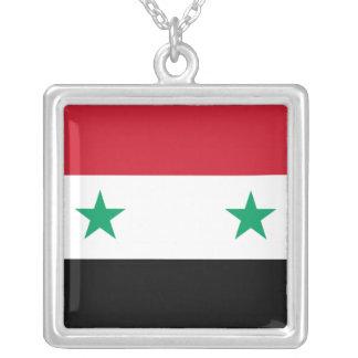 シリアの旗 シルバープレートネックレス
