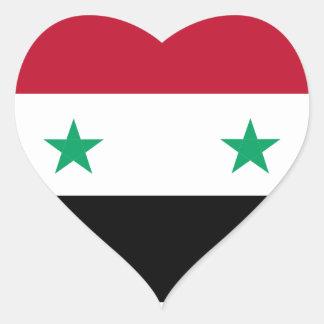 シリアの旗 ハートシール