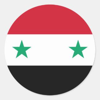 シリアの旗 ラウンドシール
