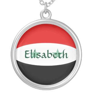 シリアの旗 + 一流のネックレス シルバープレートネックレス