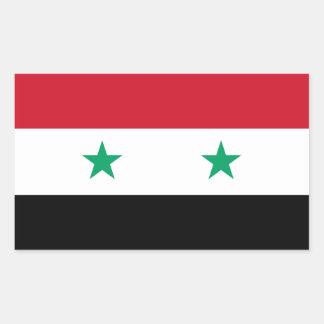 シリアの旗 長方形シール