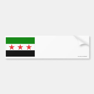 シリアの旗(1932-1958年および1961-1963年) バンパーステッカー
