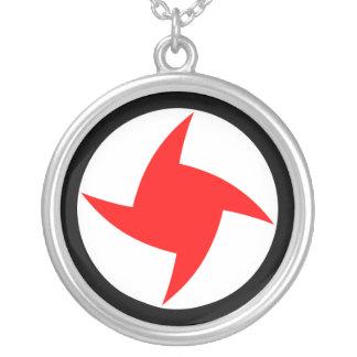 シリアの社会的な国民党、シリアの旗 シルバープレートネックレス