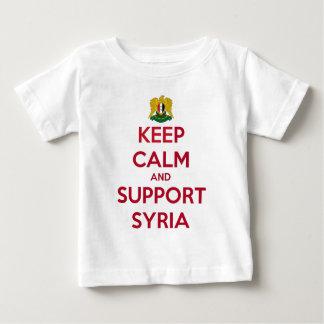 シリア穏やか、サポート保って下さい ベビーTシャツ