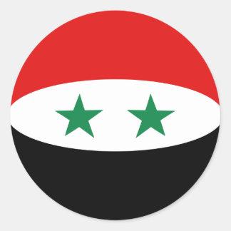 シリアFisheyeの旗のステッカー ラウンドシール