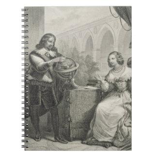シリーズからのスウェーデンのクリスティーナの(1626-89年の)女王、 ノートブック