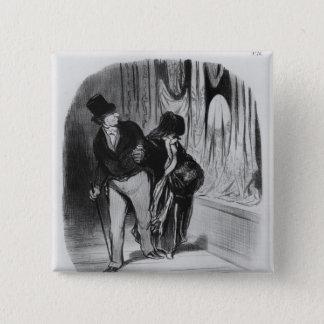 シリーズ「Lesの糖菓のブルジョア 5.1cm 正方形バッジ