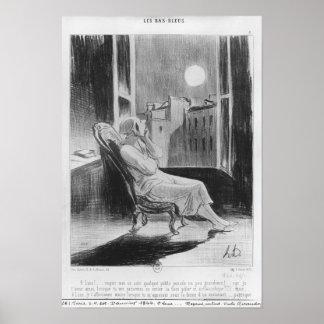 シリーズ「Les Basブルー」の、Oの月 ポスター