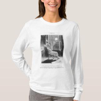 シリーズ「Les Basブルー」の、Oの月 Tシャツ