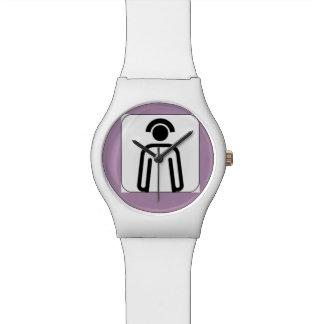 シルエットが付いているナースの紫色の腕時計 腕時計
