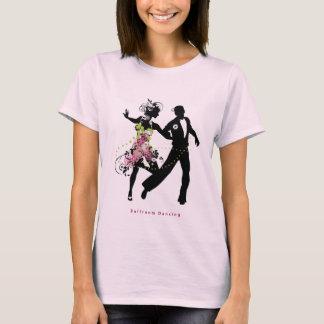 シルエットのカップルの社交ダンス Tシャツ
