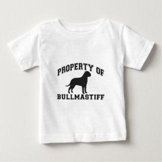"""シルエットのグラフィックとの""""Bullmastiff""""の特性 ベビーTシャツ"""
