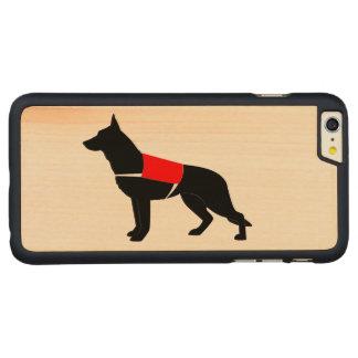 シルエットのベストのジャーマン・シェパード犬 CarvedメープルiPhone 6 PLUS スリムケース