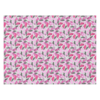 シルエットの動物のカムフラージュのピンク テーブルクロス