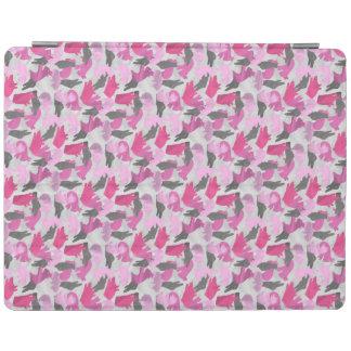 シルエットの動物のカムフラージュのピンク iPadスマートカバー