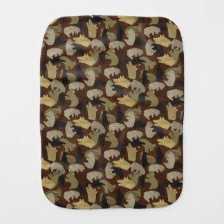 シルエットの動物のカムフラージュブラウン バープクロス