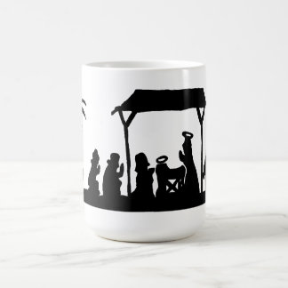 シルエットの感覚、出生 コーヒーマグカップ