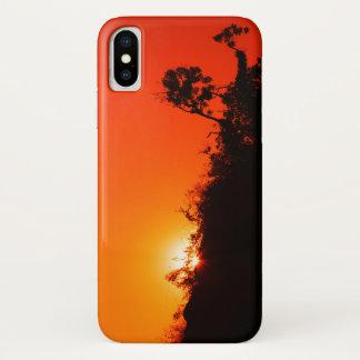 シルエットの日没 iPhone X ケース