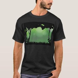 シルエットの森林 Tシャツ