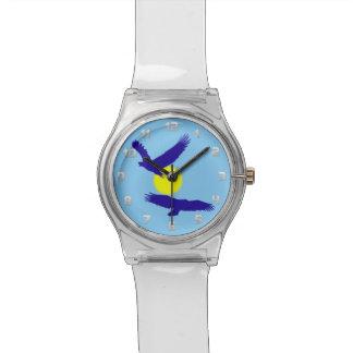 シルエットの禿げたイーグルスは見ます 腕時計