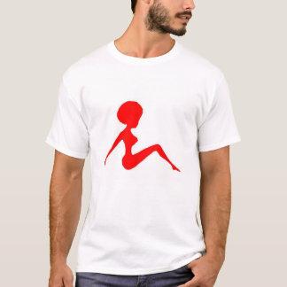 シルエットの赤 Tシャツ