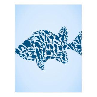 シルエットの魚 ポストカード