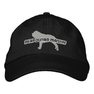 シルエットのNeapolitanマスティフによって刺繍される帽子 刺繍入りキャップ