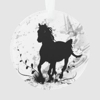 シルエット、黒い馬 オーナメント