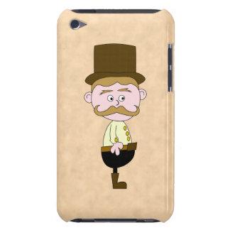 シルクハットおよび髭を搭載する紳士。 カスタム Case-Mate iPod TOUCH ケース