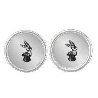 シルクハットのバニーウサギ カフスボタン
