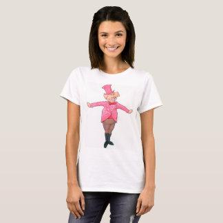 シルクハットのブタ Tシャツ